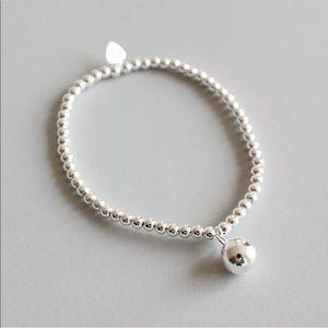Sterling silver bead ball bracelet